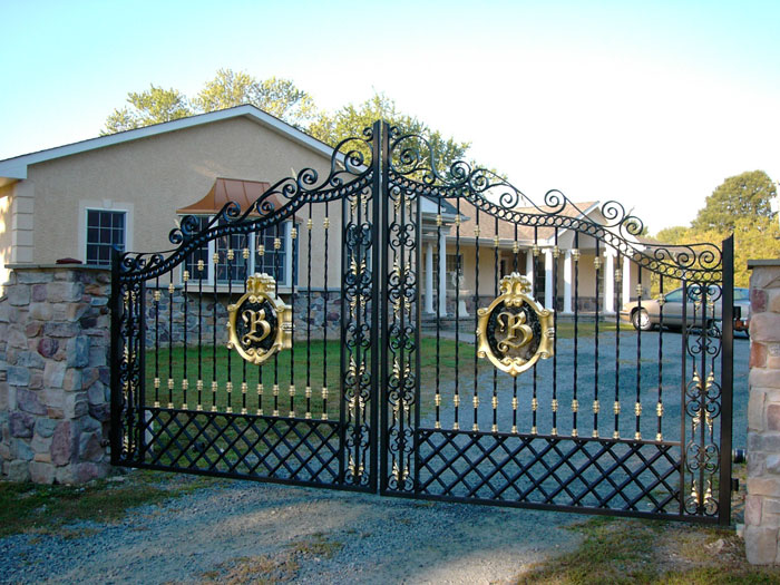 Initials Iron Gates And Wrought Iron Gates On Pinterest
