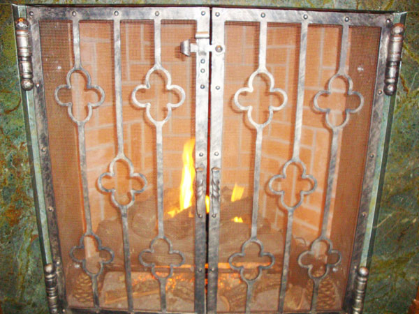Custom Wrought Iron Fireplace AccessoriesRed Pepper Forge  Maryland and Delaware Custom Ironwork including  . Custom Wrought Iron Fireplace Screens. Home Design Ideas